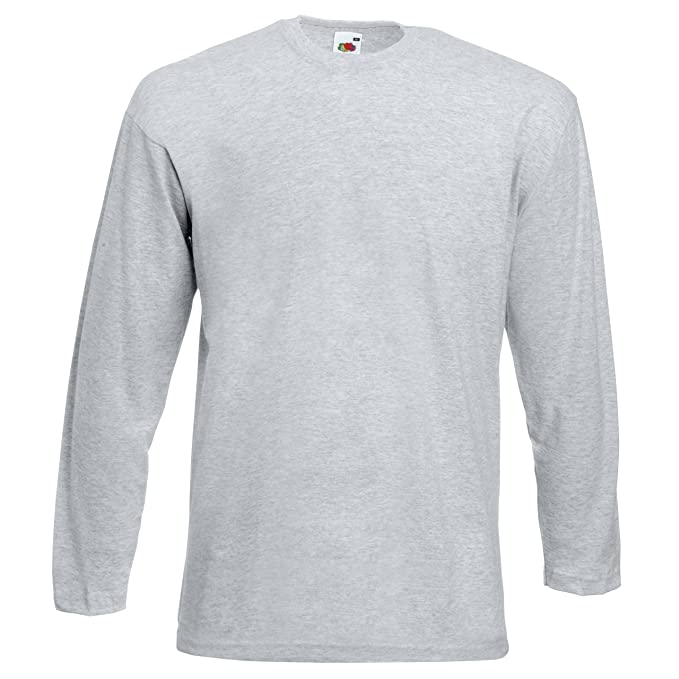 Fruit of the Loom Valueweight Long Sleeve T-Shirt SS032: Amazon.de:  Bekleidung