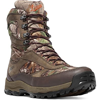 "High Ground Realtree Xtra Green Boot 8"" (46222) height Brown Hunting Boots  Gore-TEX (GTX) Waterproof Hiking Leather Boots  Modern Battlefield Combat Boot"