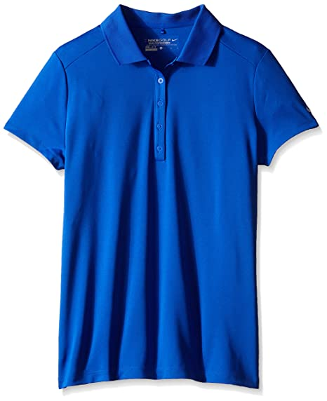 Nike Victory Short Sleeve Golf Polo 2015 Ladies Game Royal X-Small
