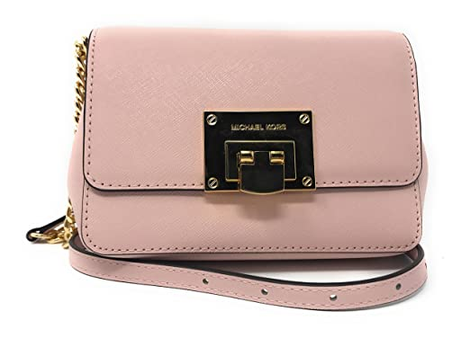 Michael Kors Tina Small Leather Clutch Crossbody Bag in
