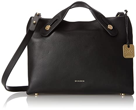 Skagen Mini Mikkeline Satchel B Shoulder Bag, Black, One Size ...