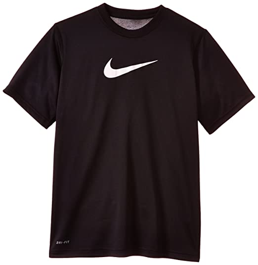 Nike Dry Big Kids' Training T-Shirts Black/White