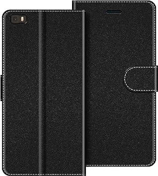 COODIO Coque en Cuir Huawei P8 Lite, Étui Téléphone Huawei P8 Lite 2015, Housse Pochette Huawei P8 Lite Fonction Stand Etui Coque pour Huawei P8 Lite, ...