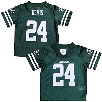 Darrelle Revis New York Jets Green Youth Player Home Jersey