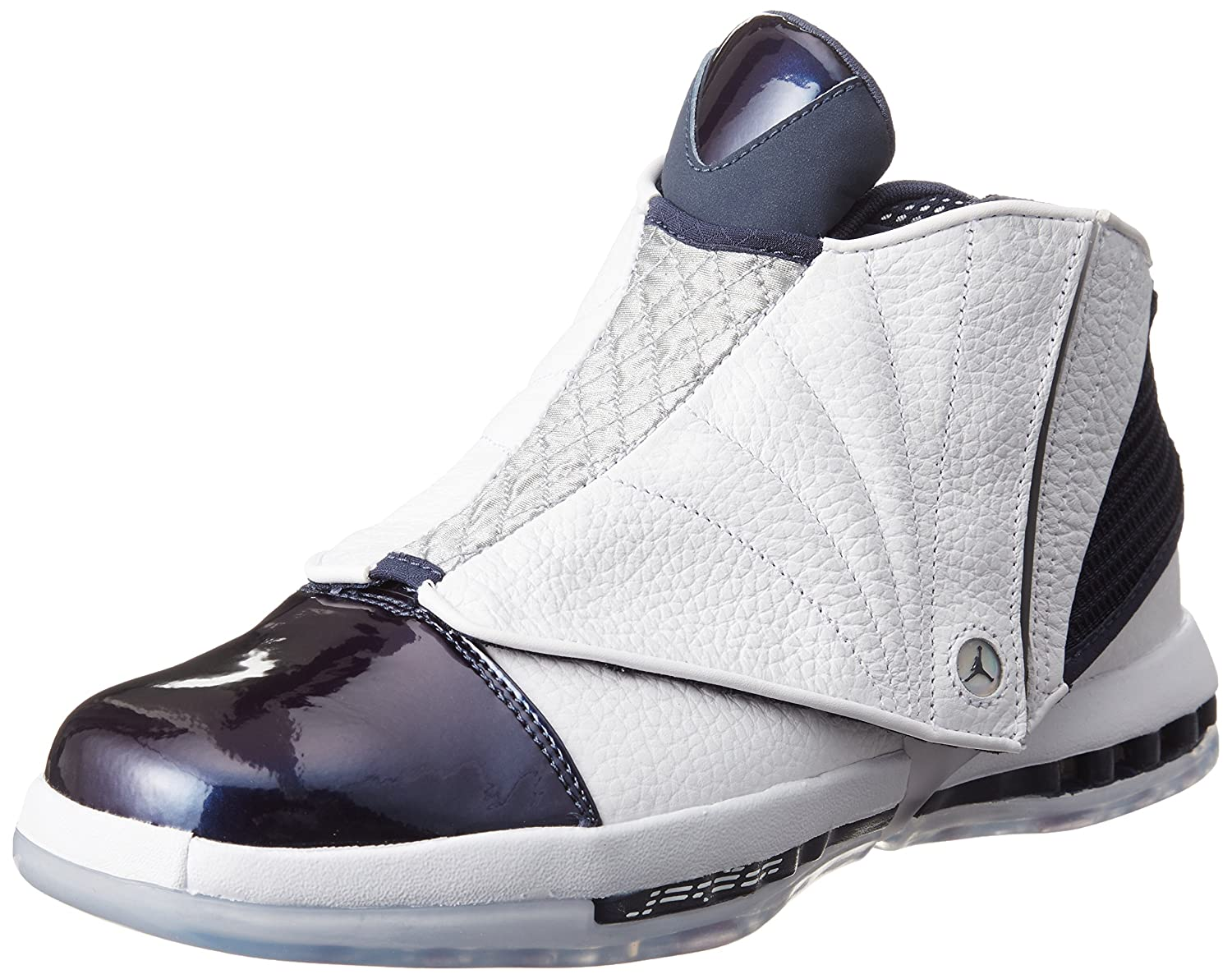 Amazon.com | NIKE Men's Jordan 16 XVI Retro White/Midnight Navy 12 D(M) US | Basketball