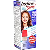 Licefreee Spray, Instant Head Lice Treatment Spray Bottle With Metal Comb, 6-Ounce