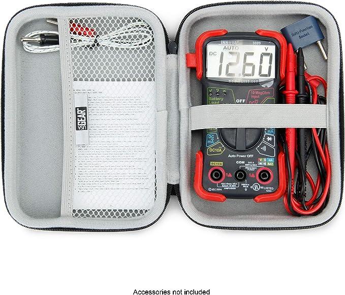 Essentials serie MCH-01 doble y acolchado cremallera estuche con correa para la mu/ñeca para mult/ímetro port/átil Color negro