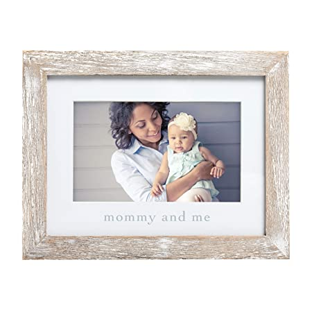 Pearhead Mommy & Me Keepsake Rustic Picture Frame, New Mom Gifts from Baby, Distressed