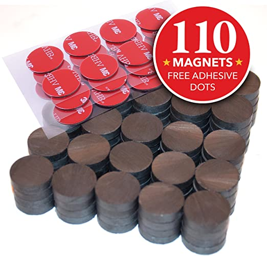 50 Round Full Disc Magnets Crafts Hobby Home Model Fridge Office Part 3//4