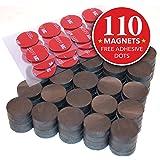 Hold True Ceramic Round Disc Magnets - 110 pcs with 24 BONUS Adhesive Dots - Industrial Strength Ferrite Magnet for Fridge, Craft, Hobby, School, Heavy Duty, Bulk Grade 5 (3/4inch) w/ Adhesive Dots!