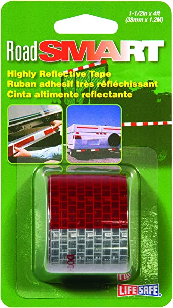 Incom RE800 DOT-C2 Red//Silver 1.5 x 4 High Visibility Reflective Safety Tape