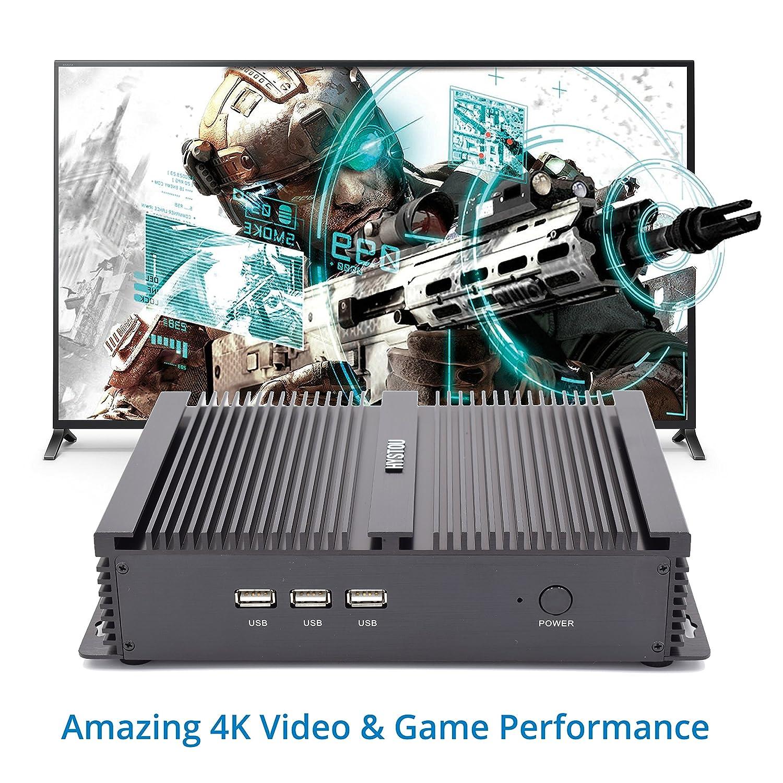 Intel nuc, Intel CoreTM i5-4200U, Mini Ordenador, Mini PC,Mini PC sin Ventilador,HDMI, VGA, LAN, 2 * RS232, 4USB3.0, 3USB2.0, Wi-Fi, Bluetooth 4.2 ...