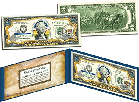 Bill APOLLO 11 NASA Moon Landing 50th ANNIVERSARY Official Legal Tender $2 U.S