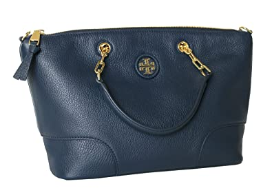 477a1ad7cd6 Image Unavailable. Image not available for. Color  Tory Burch Whipstitch  Logo Small Slouchy Satchel ...