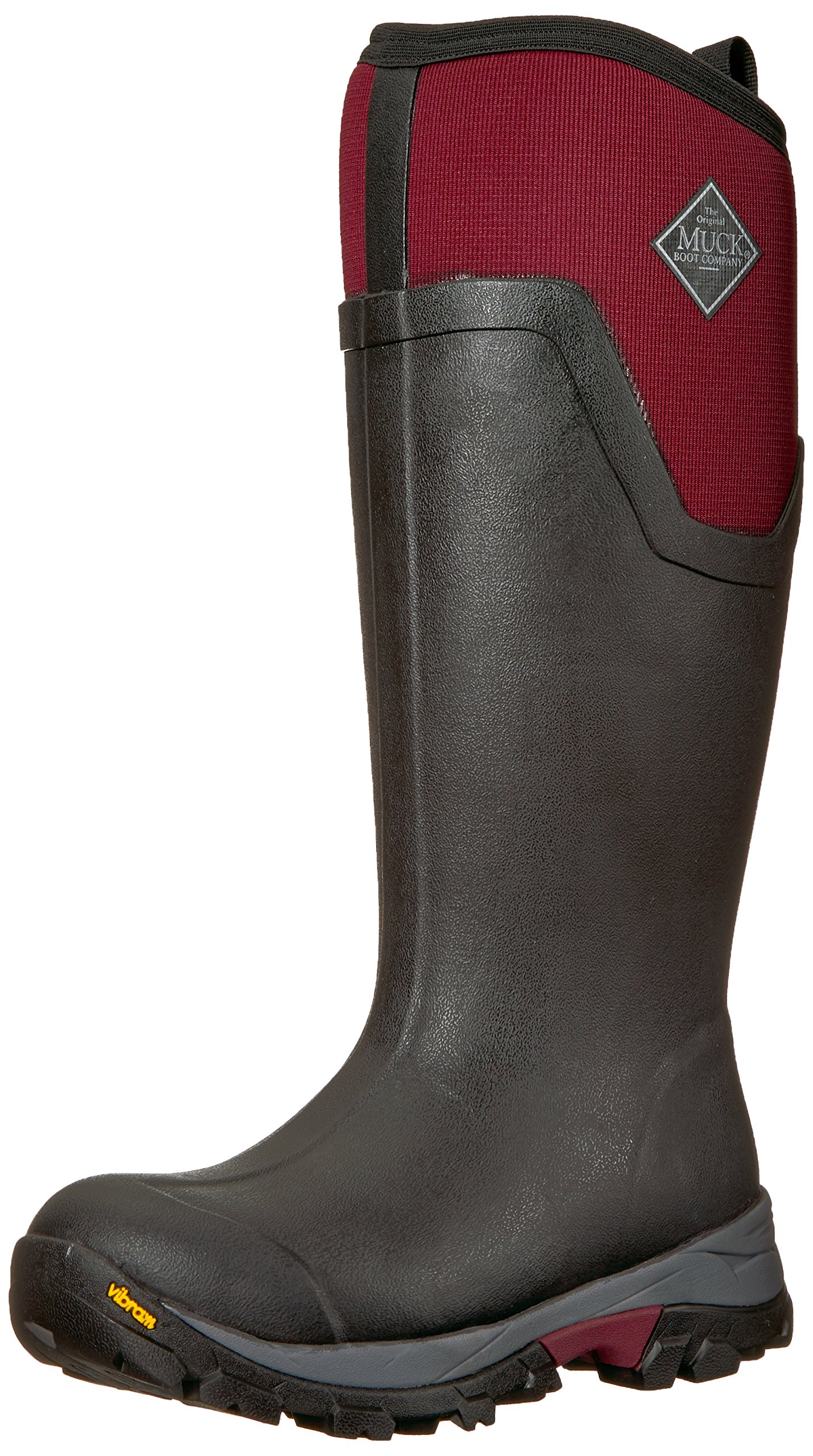 Muck Boot Women's Arctic Ice Tall Work Boot, Black/Windsor Wine, 9 M US by Muck Boot
