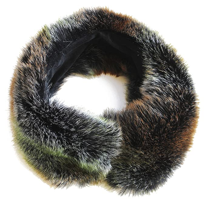 FERETI Cuello De Pelo Sintetico Rex Zorro Verde Gorro Rusa Bufanda de Piel Estola 2 En 1: Amazon.es: Ropa y accesorios