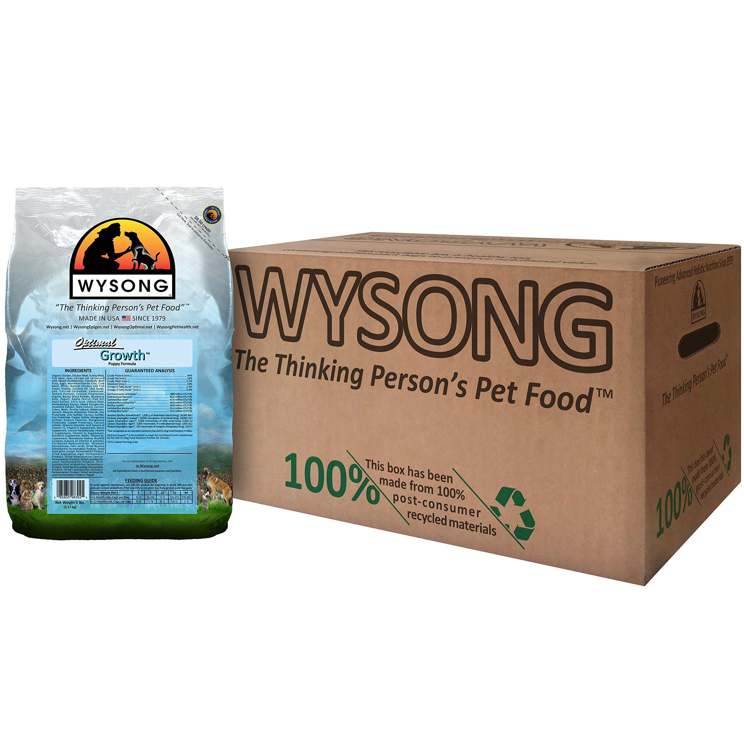 Wysong Optimal Growth Puppy Formula Puppy Food, Four- 5 Pound Bags