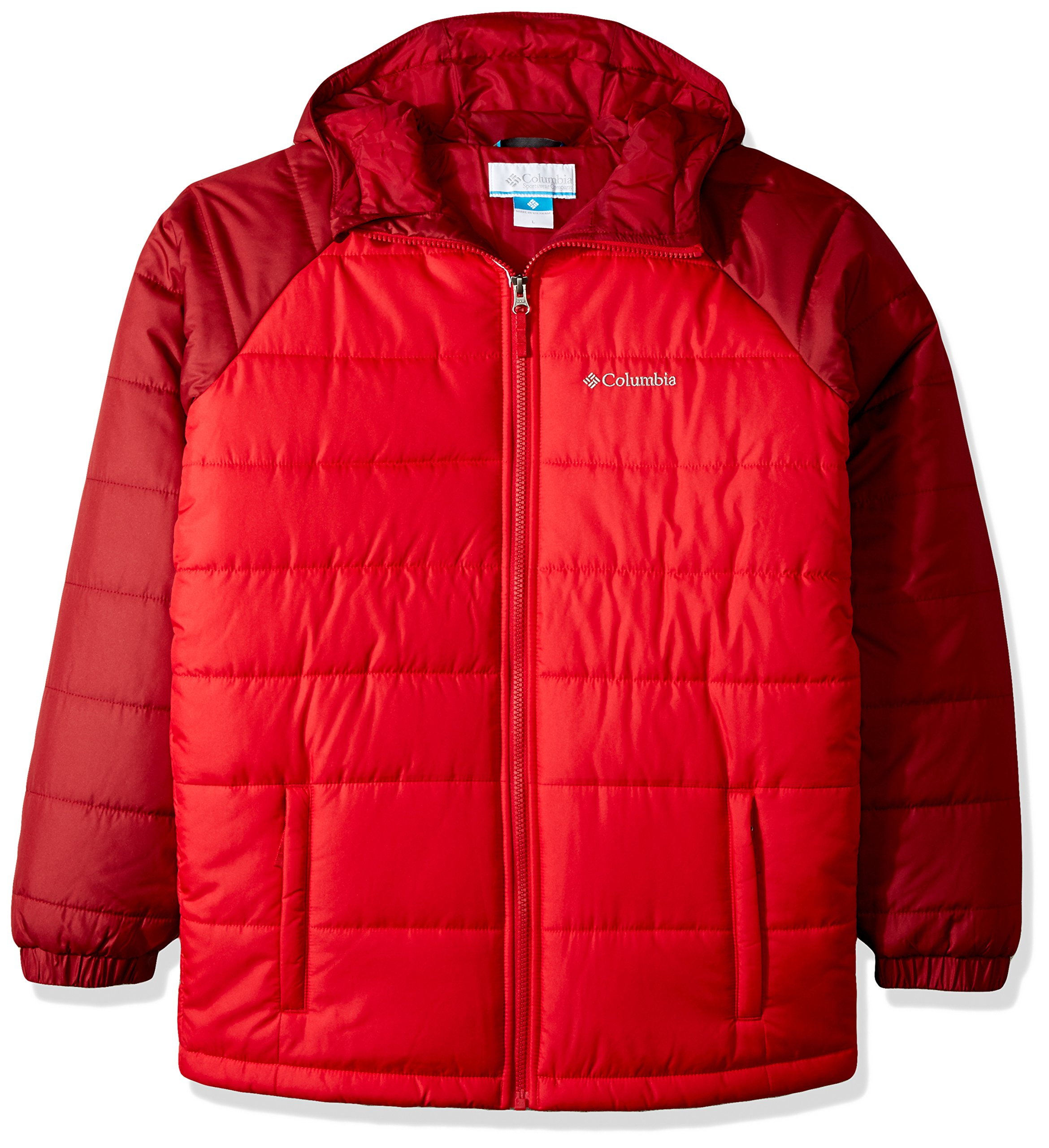 Columbia Boys' Little Tree Time Puffer Jacket, Mountain Red, Beet, Small