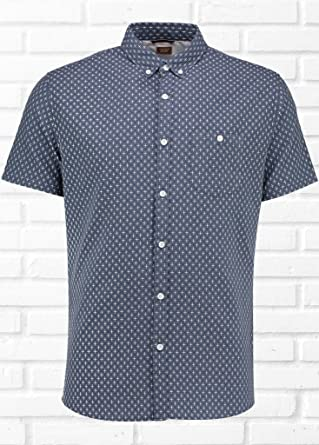 Common People Mens Sammy Cross Dobby Shirt Xl