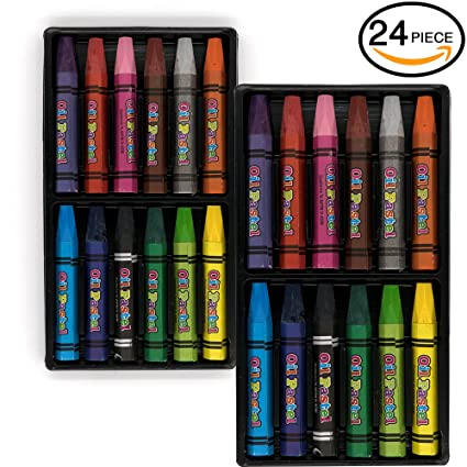 amazon com emraw jumbo oil pastels 24 color crayons oil paint
