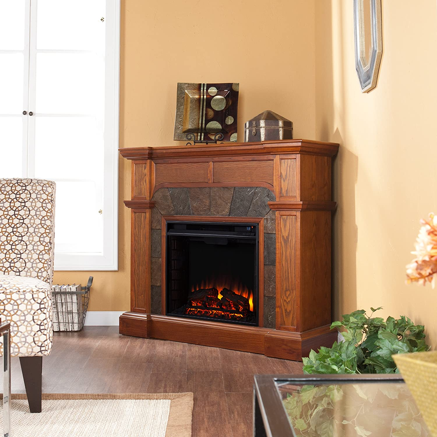 Amazon.com: Cartwright Convertible Electric Fireplace - Mission Oak:  Kitchen & Dining - Amazon.com: Cartwright Convertible Electric Fireplace - Mission
