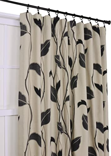 Ellis Curtain Riviera Large Scale Leaf and Vine 50-Inch