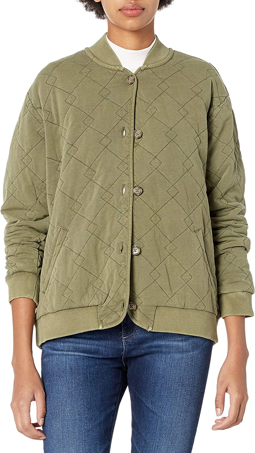 Lucky Brand Max 75% OFF Women's Bomber Jacket Philadelphia Mall Quilted