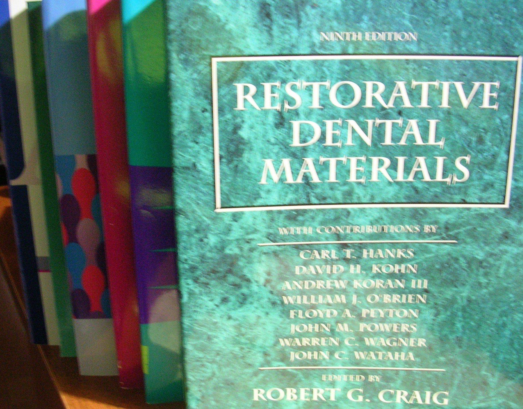 6 Book Bundle On Dental Titles Restorative Dental Materials Ninth