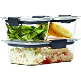 Rubbermaid Brilliance Food Storage Container, 6-Piece Set, 100% Leak-Proof, Plastic, Clear