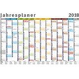 XXL Wandkalender / Wandplaner 2018 im Maxi Poster Format 61x91,5 cm mit 14 Monaten, Ferienterminen und Feiertagen aller Bundesländer – gerollt knickfrei geliefert