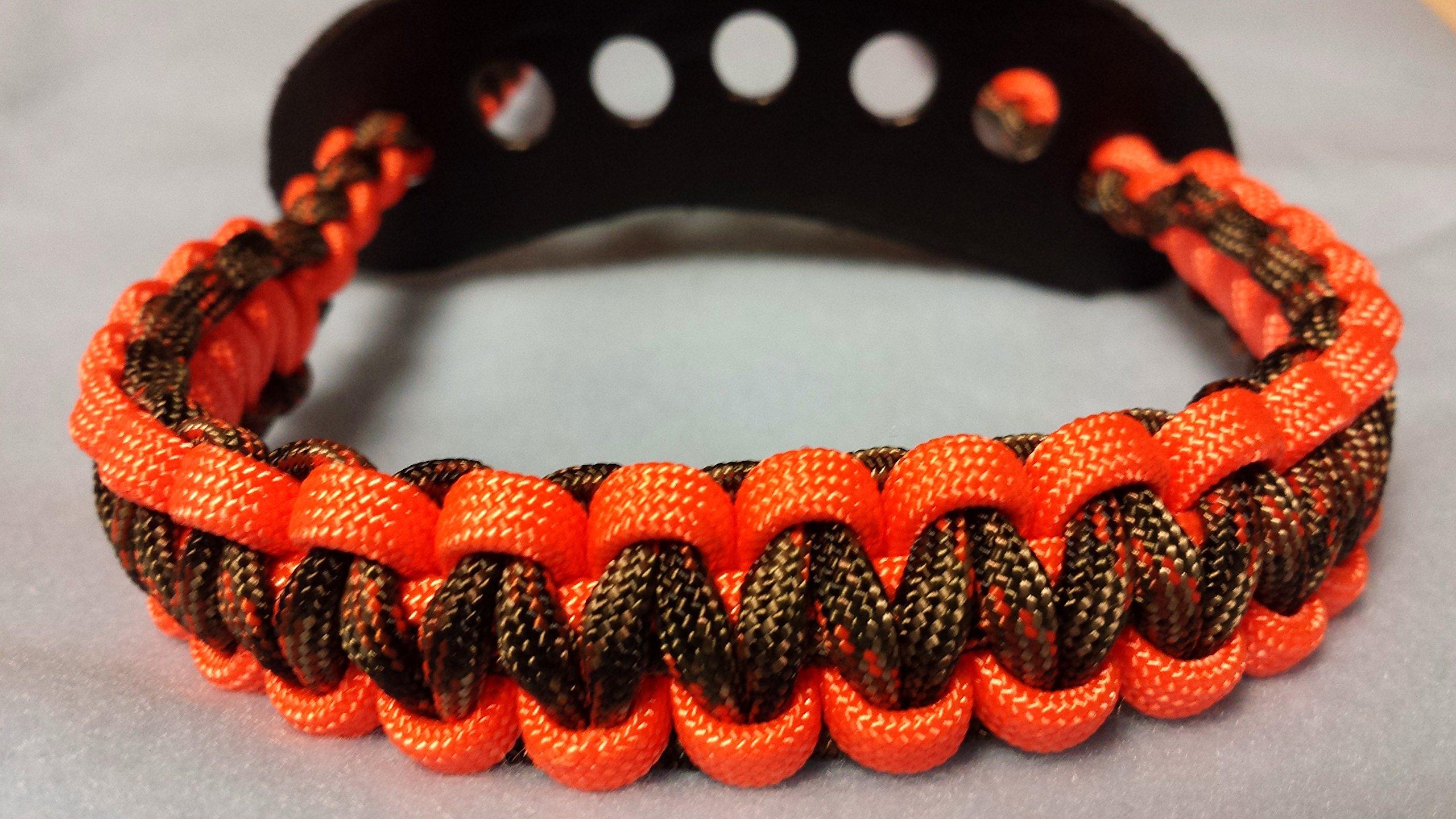 Muddy River Gear Archery Bow Wrist Sling Orange and Treestand Camo