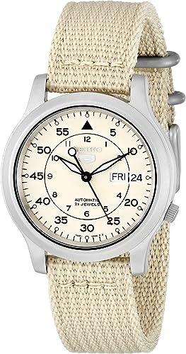 Amazon.com: Seiko Men's SNK803 Seiko 5 Automatic Watch with Beige Canvas  Strap: Seiko: Watches