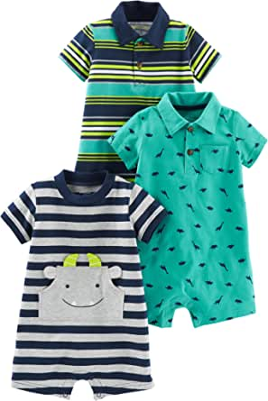 Simple Joys by Carter's 3-pack Rompers infant-and-toddler-rompers Bebé-Niños