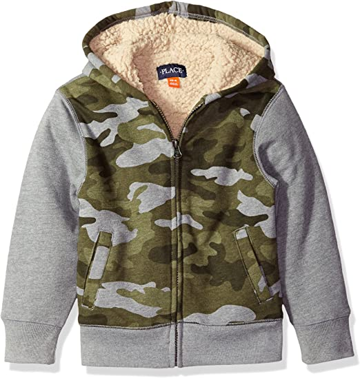 The Childrens Place Big Boys Fleece Sherpa Sweater