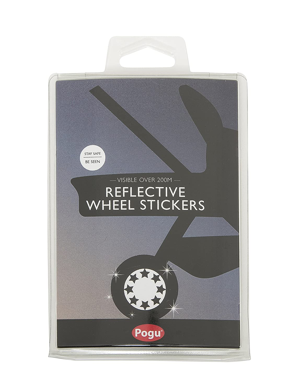 Pogu Reflective Pushchair Wheel Stickers, Star Bebelephant