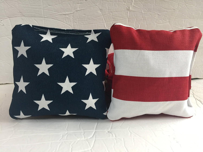 Patriotic Cornhole Bags, American Flag Toss Bags, Patriotic Toss Bags, USA Flag Cornhole Bags, Stars and Stripes Cornhole Bags