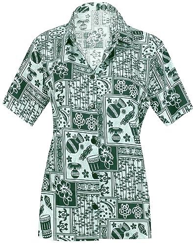 Las Mujeres Ocasionales botón Hawaiano Camisa Casual Mangas Cortas Ropa de Playa hacia Abajo para Cu...