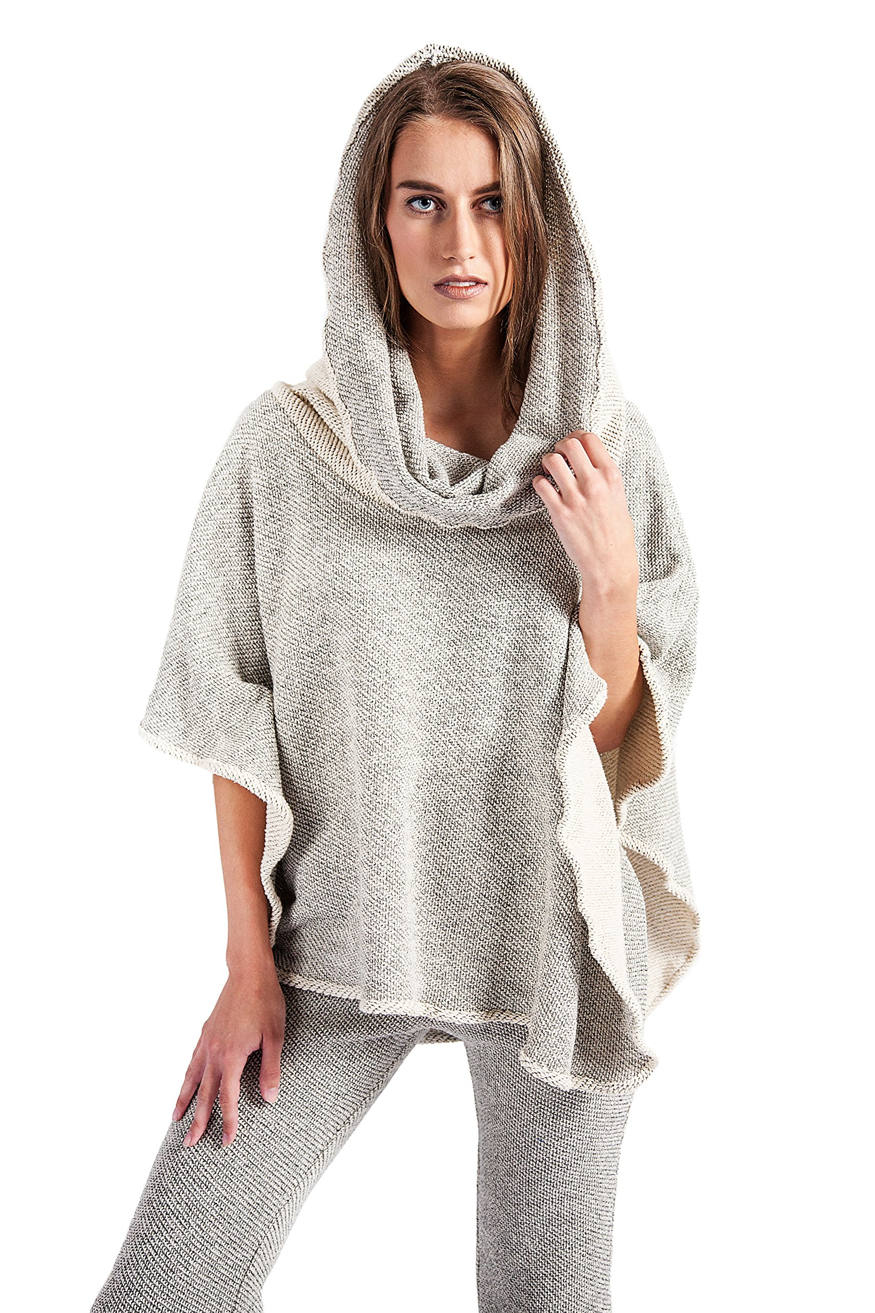 HOODIE PONCH Heidi Hess Designer Poncho Sweater Converts Into Scarf, Hoodie or Top - Mesh Me Up, One Size