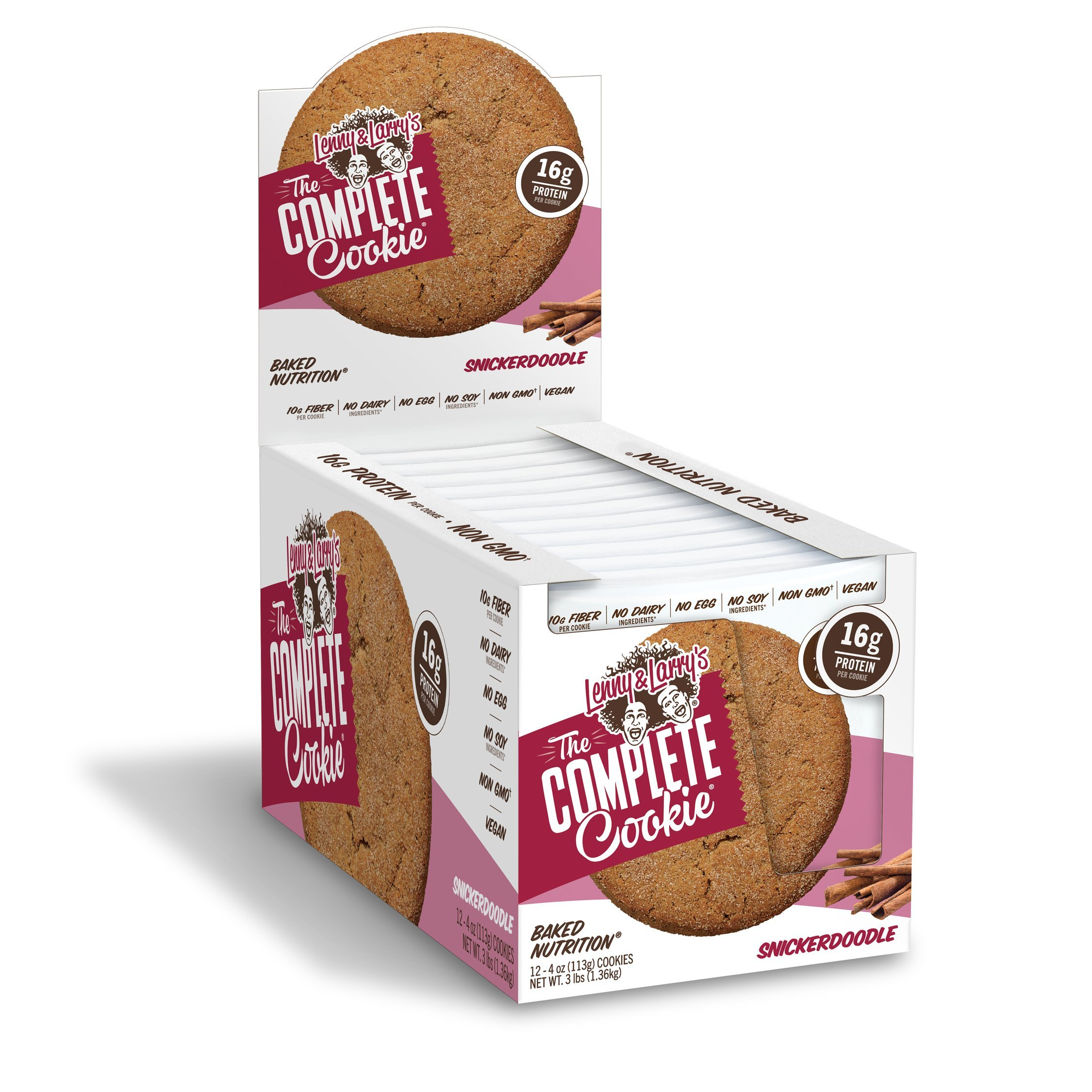 Lenny And Larrys The Complete Cookie Snickerdoodle Soft Baked 16g Plant Protein