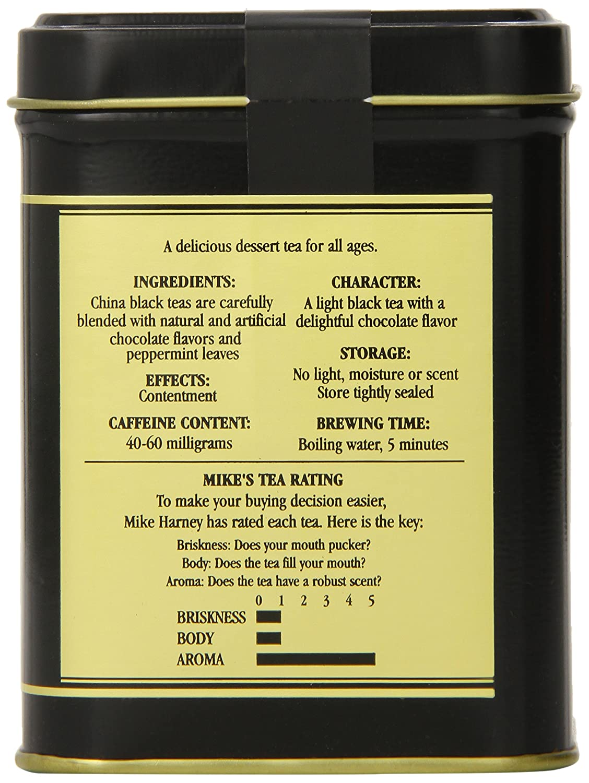 Amazon.com : Harney & Sons Loose Leaf Black Tea, Chocolate Mint, 4 ...