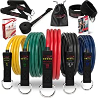Vigo Sports Resistance Bands Expander Set incl. videocursus & PDF-handleiding - effectieve home-workout met de…