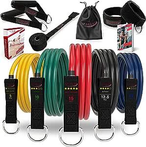 Premium Resistance Bands Expander Set Incluye Workout Guide – Bandas de resistencia Tubes perfecto para hombre & mujer – tu profesional Gimnasio para ...