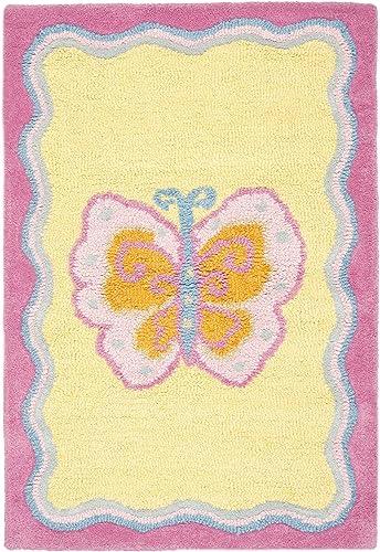Safavieh Safavieh Kids Collection SFK394A Handmade Multi and Pink Cotton Area Rug 2 x 3
