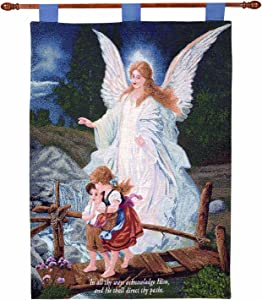 Manual Inspirational Collection 26 X 36-Inch Wall Hanging and Finial Rod, Direct Thy Paths with Verse
