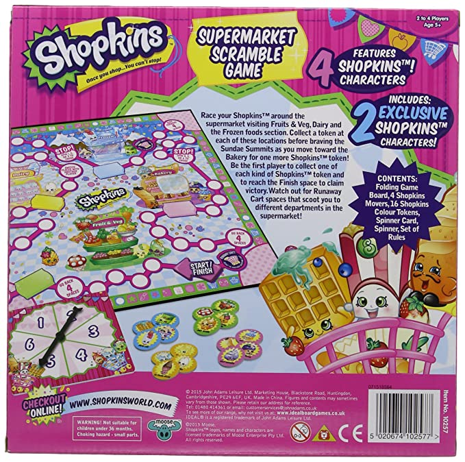 John Adams Shopkins Supermarket Scramble Game: Shopkins: Amazon.co.uk: Toys  U0026 Games