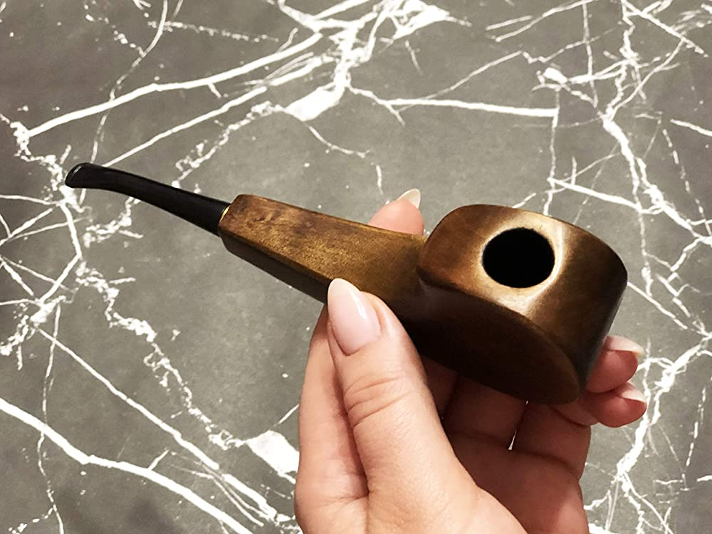 Unique Natural Stone Smoking Pipe Unique Hand Carved Tobacco Smoking Bowl made From Natural Stone 648B