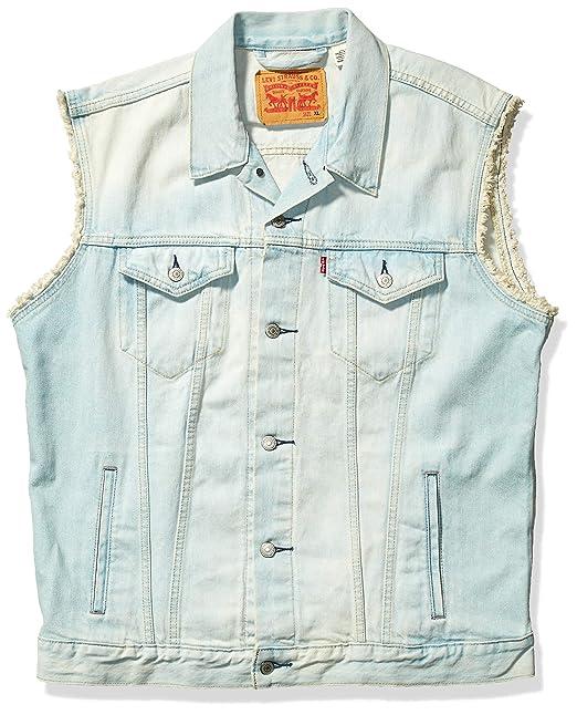 Amazon.com: Levis chaleco de jean para hombre: Clothing