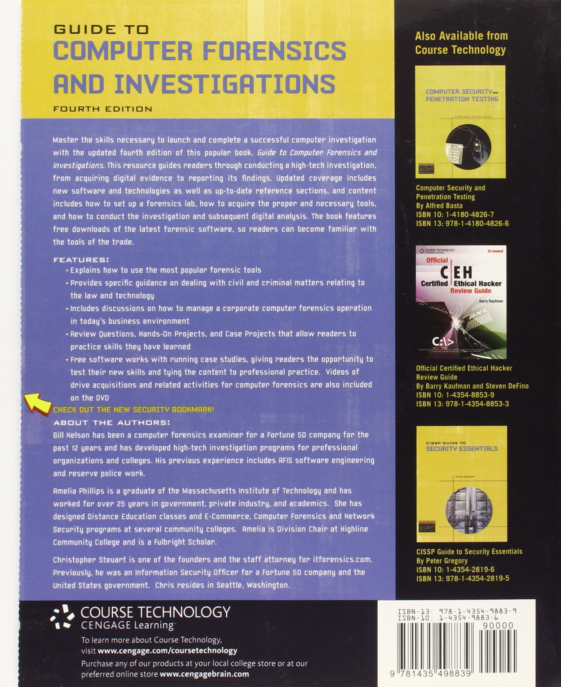Guide to Computer Forensics and Investigations (Book & CD) by Course Technology
