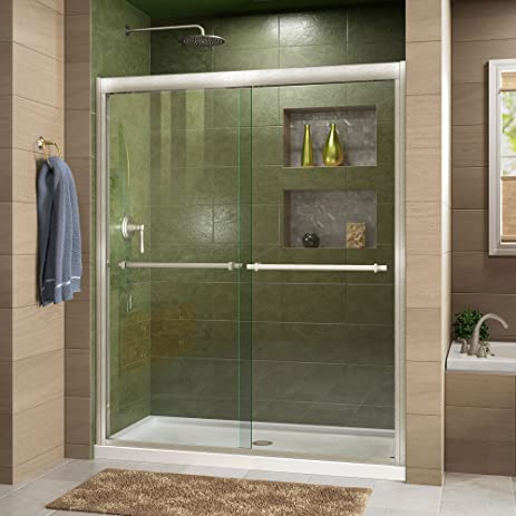 DreamLine Duet 36 in. D x 48 in. W Kit, with Bypass Sliding Shower ...