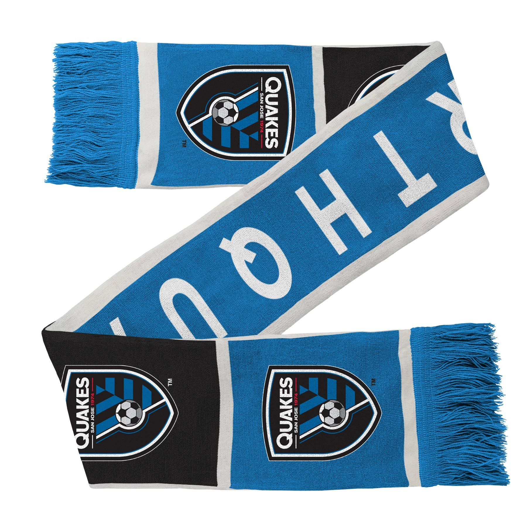 Outerstuff MLS San Jose Earthquakes R S8FDW Youth Boys Fringe Scarf, One Size (8), Master Blue